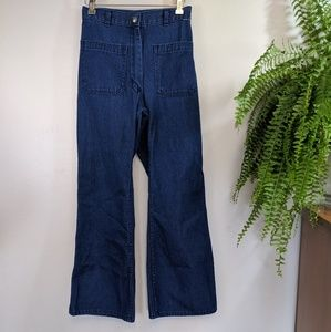 Vintage Navy Dungaree Jeans High Waist